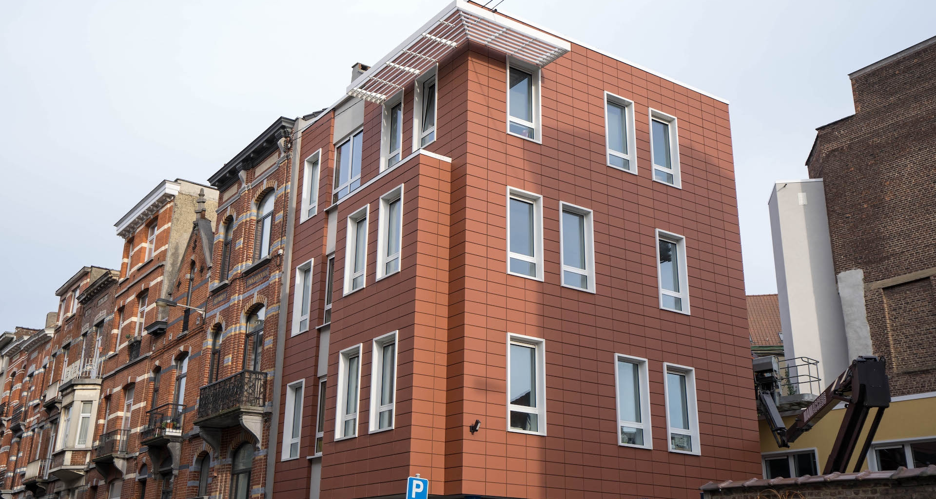 Brussels terracotta facade cladding