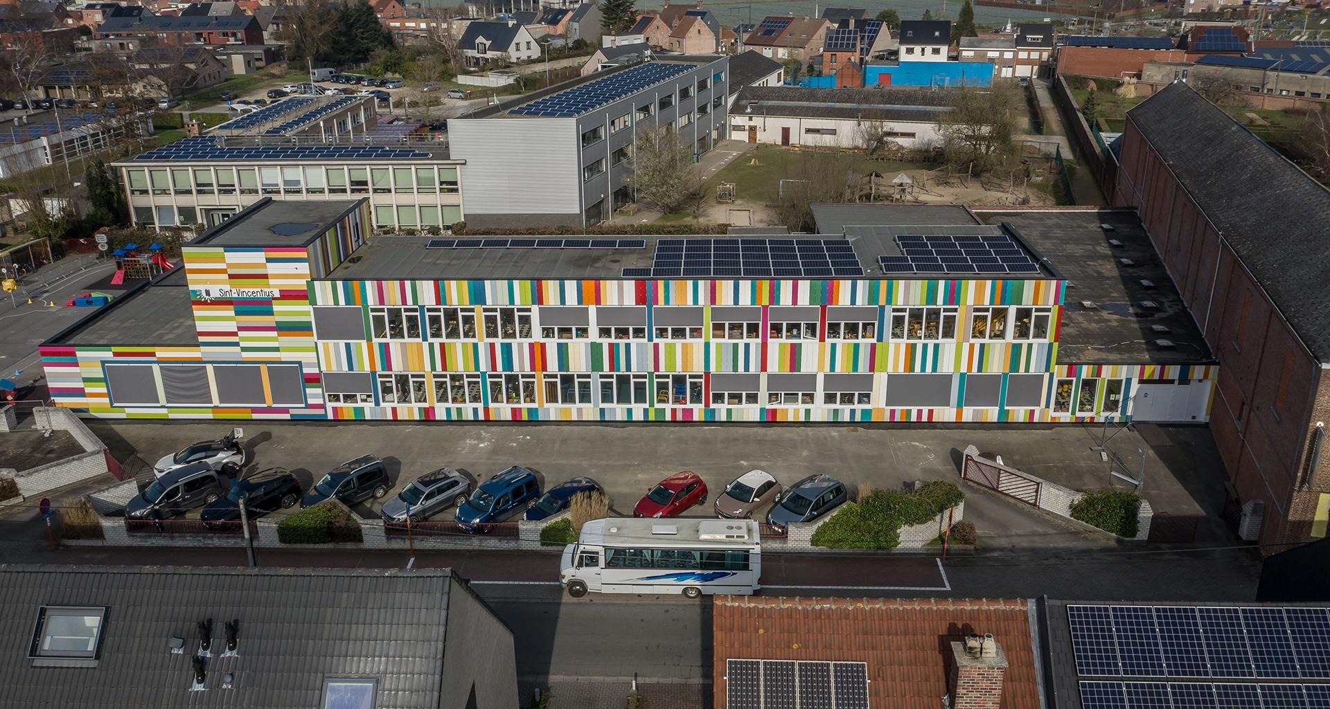 Buggenhout school HPL paneel gevelbekleding