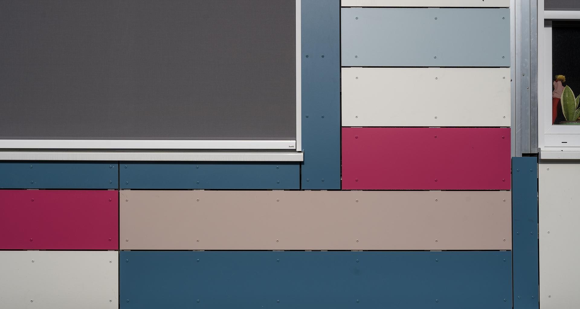 Bardage façades en panneaux HPL école Buggenhout