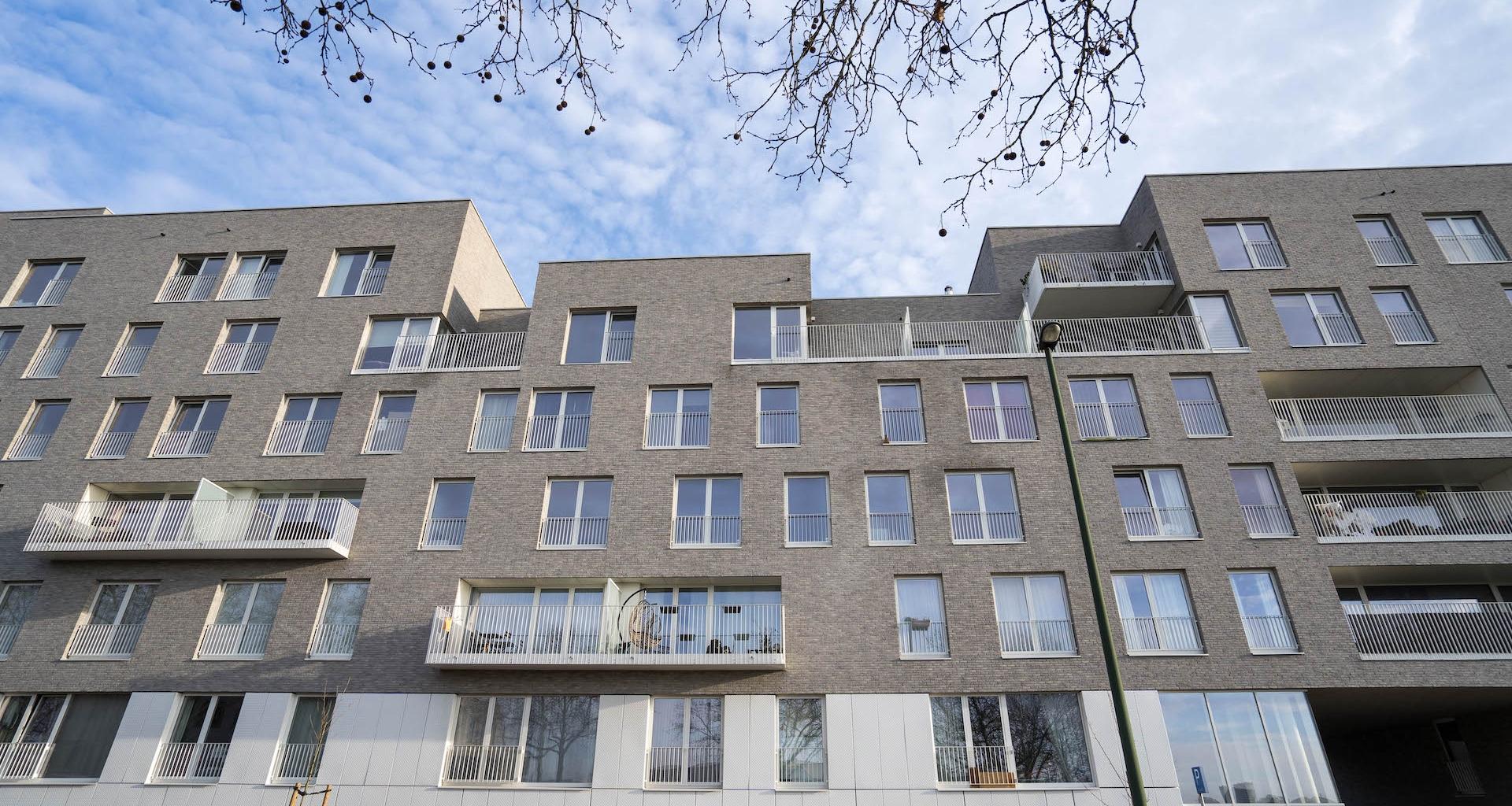 Briques des façades, panneaux fibres ciment et briquettes